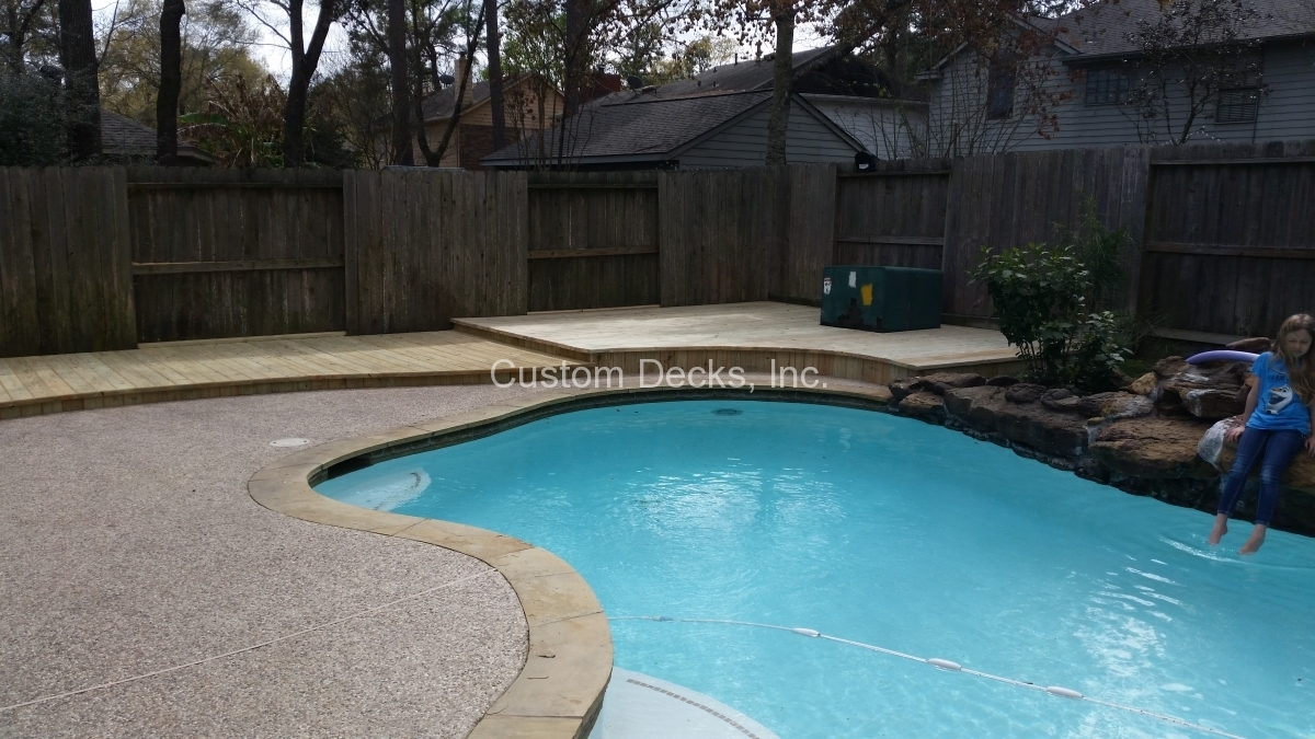 Deck And Spa Combo In Kingwood Atascocita Greater