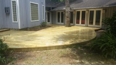 Custom Deck With Tree Cutout